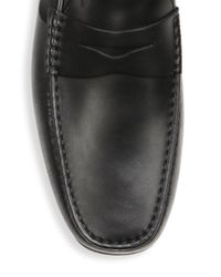 Tod's - Black City Gommino Loafers for Men - Lyst