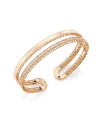 Roberto Coin - Metallic Double Symphony Diamond & 18k Rose Gold Bangle - Lyst