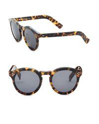 Illesteva - Multicolor 50mm Leonard Ii Tortoise Round Sunglasses - Lyst