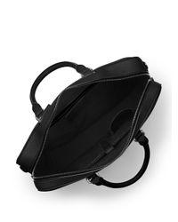 Michael Kors - Black Bryant Large Leather Briefcase for Men - Lyst