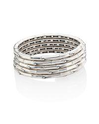 John Hardy - Metallic Bamboo Sterling Silver Multi-row Coil Bracelet - Lyst