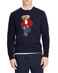 Polo Ralph Lauren - Blue Rebel Bear Wool Crewneck Sweater for Men - Lyst