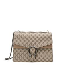 Gucci | Natural Dionysus GG Supreme Canvas Shoulder Bag | Lyst