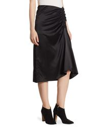 Theory - Black Tonal Stitched Knee-length Skirt - Lyst