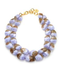 Nest | Purple Blue Lace Agate Double-strand Necklace | Lyst