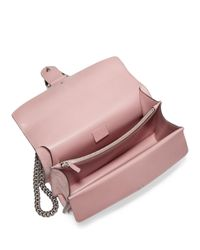 Gucci - Pink Small Crystal-embellished Suede Chain Shoulder Bag - Lyst
