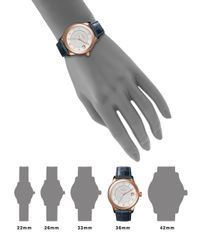 Shinola - Multicolor The Gail Pvd Rose Gold & Alligator Strap Watch - Lyst