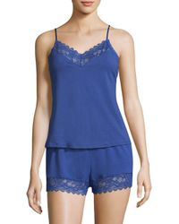 In Bloom - Blue Two-piece Scalloped Camisole And Shorts - Lyst