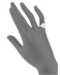SHAY - Metallic Diamond & 18k Yellow Gold Pinky Ring - Lyst