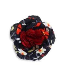 Hook + Albert   Red La Kelly Lapel Flower   Lyst