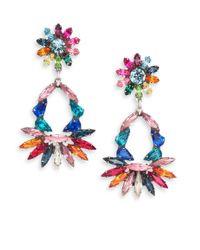 DANNIJO | Metallic Cabella Multicolor Swarovski Crystal Chandelier Earrings | Lyst