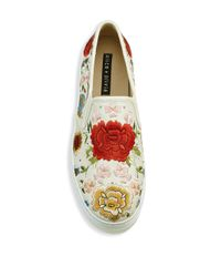 Alice + Olivia - Multicolor Sasha Embroidered Leather Sneakers - Lyst