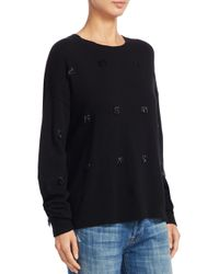 Elizabeth and James - Black Fionn Beaded Sweater - Lyst