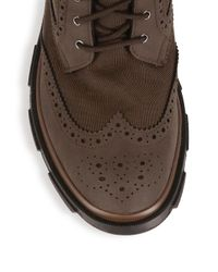 Swims - Brown Storm Brogue High Waterproof Boot for Men - Lyst