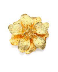 Kenneth Jay Lane - Metallic Anemone Flower Pin - Lyst