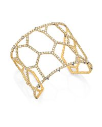 Alexis Bittar - Metallic Elements Spiked Crystal Honeycomb Cuff Bracelet - Lyst