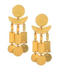 Nest - Metallic Hammered Dangle Earrings - Lyst