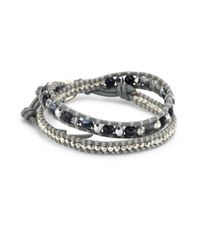 Chan Luu - Gray Grey Banded Agate Mix Double-wrap Bracelet - Lyst