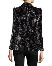 Rebecca Taylor - Black Printed Jewel Blazer - Lyst