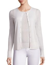 Saks Fifth Avenue | White Lightweight Cashmere Cardigan | Lyst