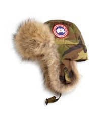 Canada Goose - Multicolor Coyote Fur Camo Aviator Hat for Men - Lyst