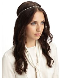 Jennifer Behr - Multicolor Crystal Scalloped Headband - Lyst
