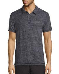 Splendid Mills | Black Heathered Cotton Polo for Men | Lyst