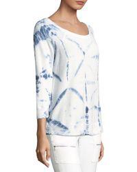Joie - White Soft Annora Tie-dye Sweater - Lyst