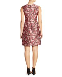 Adam Lippes | Pink Floral Fitted Dress | Lyst