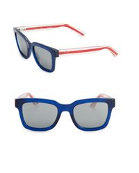 2335095a5c0 Lyst - Gucci Blue Wayfarer Sunglasses in Blue for Men