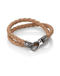 Tod's - Brown Leather Double-wrap Bracelet for Men - Lyst