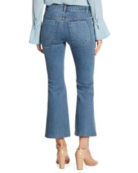 Alice + Olivia - Blue Ryley Embroidered Cropped Flare Jeans - Lyst