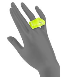 Alexis Bittar - Yellow Lucite Faceted Cocktail Ring - Lyst