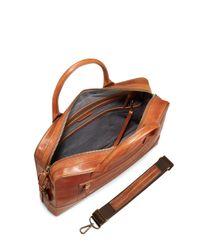 Shinola - Brown Harness Bedrock Leather Briefcase - Metallic for Men - Lyst