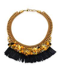 Lizzie Fortunato - Metallic Tortola Beaded Hula Fringe Necklace - Lyst