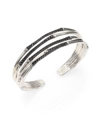 John Hardy | Bamboo Black Sapphire & Sterling Silver Four-band Narrow Bracelet | Lyst