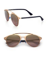 Dior - Metallic Reflected 52mm Modified Pantos Sunglasses - Lyst