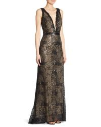 Liancarlo - Black Beaded Tulle Gown - Lyst