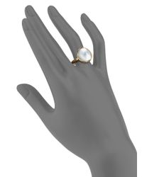 Vhernier - Pink Giotti Piccolo Mother-of-pearl & 18k Rose Gold Ring - Lyst