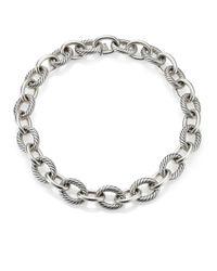 "David Yurman - Metallic Oval Extra-large Link Necklace/17"" - Lyst"