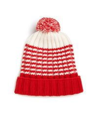Gucci - Red Knit Wool Pom-pom Hat for Men - Lyst