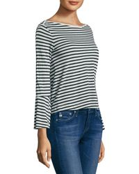 Splendid - Multicolor Striped Bell-sleeve Top - Lyst