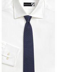 Ferragamo - Blue Geometric Gancini Print Silk Tie for Men - Lyst