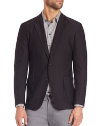 Armani - Black Mesh Jacket for Men - Lyst