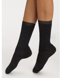 Maria La Rosa | Gray Short Knit Socks | Lyst