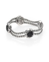 John Hardy - Metallic Kali Black Sapphire & Sterling Silver Four-station Bracelet - Lyst
