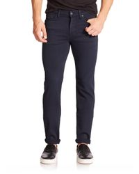 7 For All Mankind - Blue Luxe Performance: Slimmy Slim Straight-leg Jeans for Men - Lyst