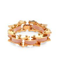 Lele Sadoughi - Multicolor Striped Slim Satellite Bracelet - Lyst