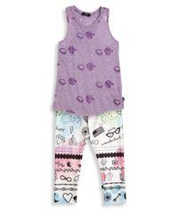 Terez - Multicolor Girl's Inked Leggings - Lyst