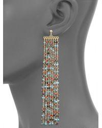 Elizabeth and James - Metallic Emmy Beaded Chain Fringe Earrings - Lyst